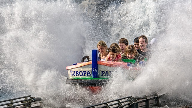 Amusement Park, Europa Park, Boot, Park, Water Slide