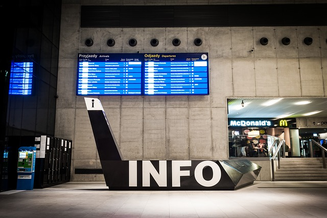 Railway Station, Information, Katowice, An Array Of
