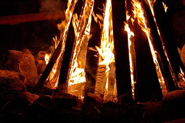 An Outbreak Of, Burn, Flames, Heat, Fire, Glow, Hot