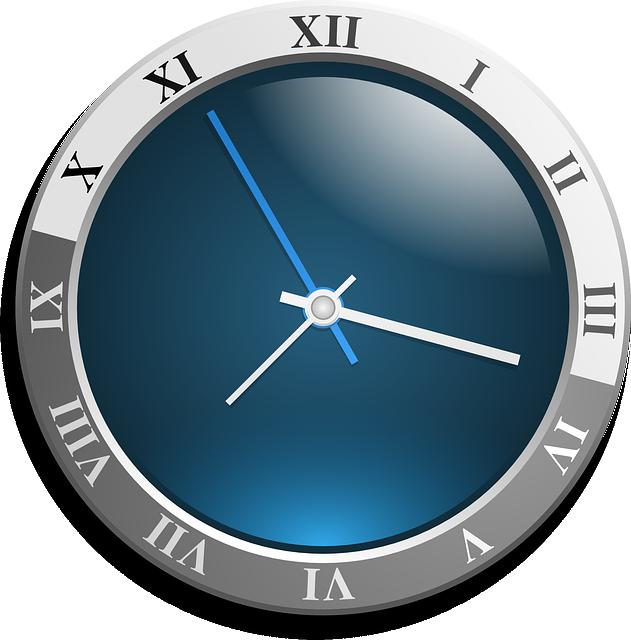 Clock, Analog, Face, Blue, Time, Timer, Ticking, Hands