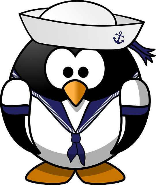 Tux, Anchor, Animal, Bird, Boat, Ferry, Hat, Mariner