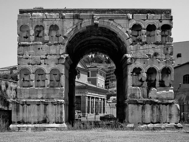 Arc De Triomphe, Rome, Ancient, Building, Ruin