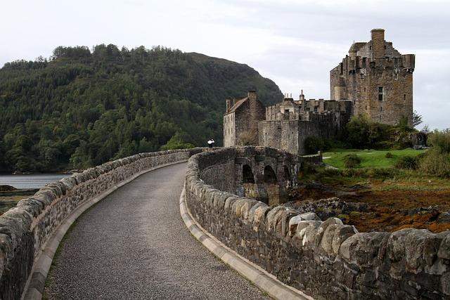 Castle, Eilean Donan Castle, Ancient, Medieval