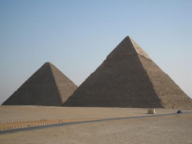 Egypt, Pyramids, Giza, Ancient, Triangle, Desert