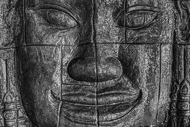 Face, Black, African, Sculpture, Ancient, Old, Religion