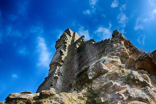 Castle, Ruin, Ancient, Dorset, England