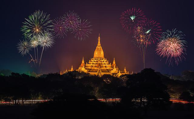 Fireworks, Amazing, Ancient, Asia, Seductive, Burma