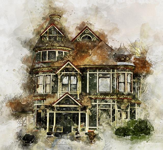 Victorian House, Building, Architecture, Ancient