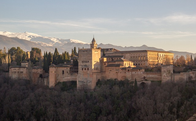 Alhambra, Granada, Sunset, Andalusia, Monuments, Spain