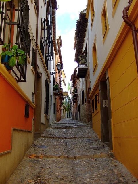 Street, Lane, Granada, Andalusia, Spain
