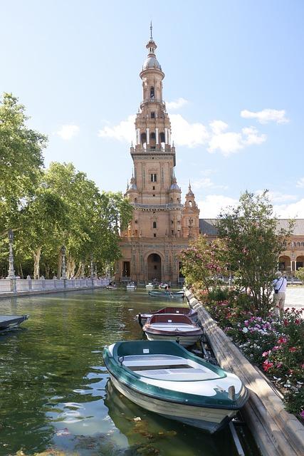 Seville, Plaza España, Barca, Andalusia, Plaza, Spain