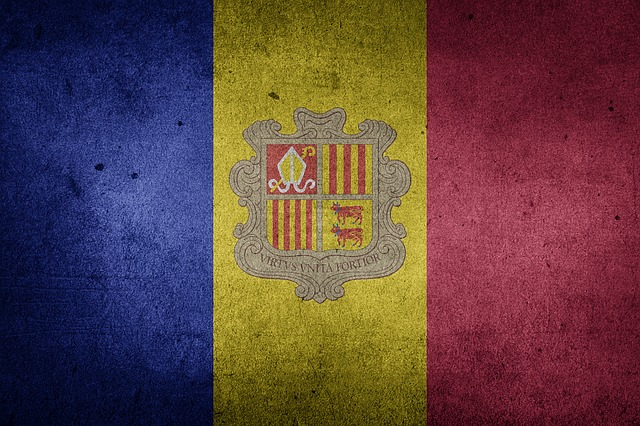 Andorra, Flag, Grunge, Europe, National Flag