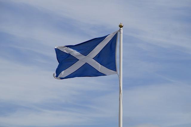 Scotland, Flag, Sky, Blow, Scottish, Andreaskreuz