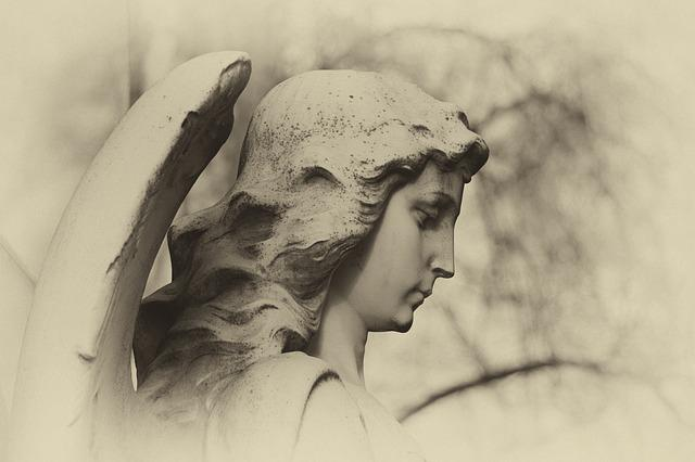 Angel, Cemetery, Mourning, Sculpture, Female, Grave