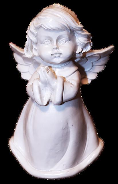 Figure, Angel, Cherub, Ceramic, Female, Patina, Deco