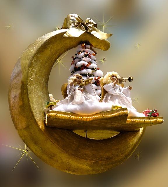 Christmas, Angel, Christmas Greeting, Golden