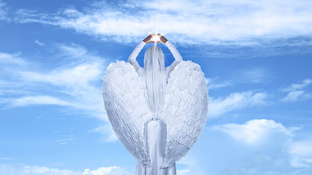 Free Photo Angel Clouds Sky Blue Sky Ray Wings Light Max