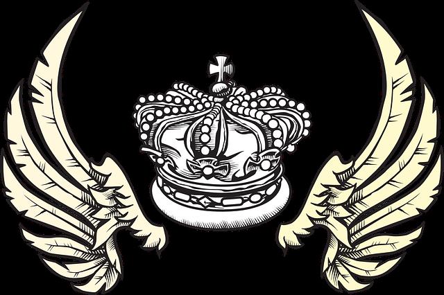 Drawing, Sketch, Queen, Angel, Wing, Elements, Crown