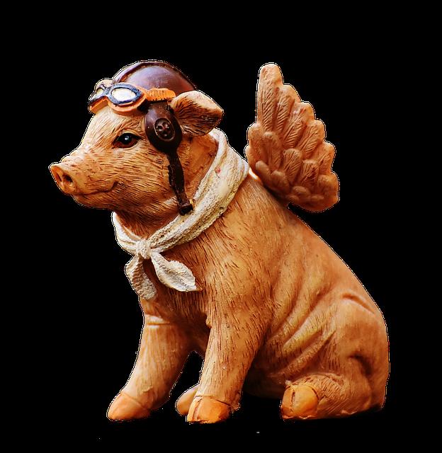 Lucky Pig, Guardian Angel, Figure, Funny, Cute, Angel