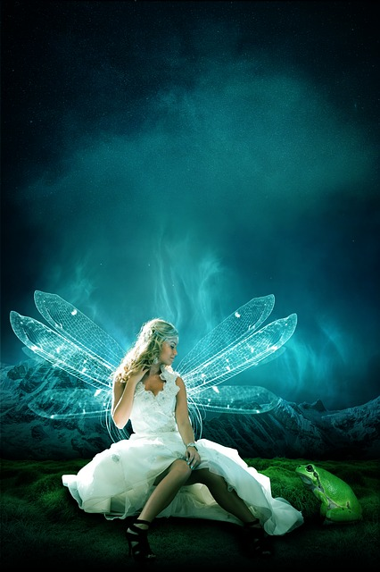 Dreamland, Angel, Fairy Tales, Woman, Mystical, Pretty