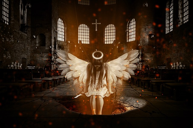 Angel, Hell, Church, Fight, Mystical, Weird, Dramatic