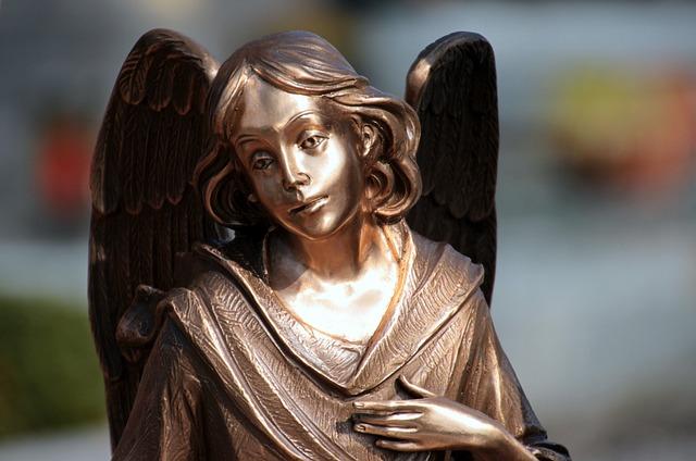 Angel, Consolation, Mourning, Statue, Angel Figure