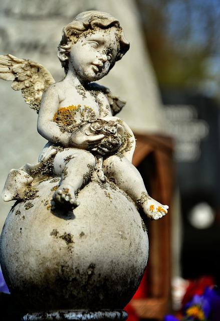 Angel, Angel Figure, Cemetery, Grave, Sculpture, Statue