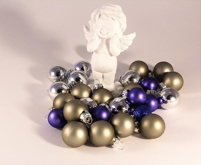 Angel, Christmas Balls, Gold, Christmas Decorations