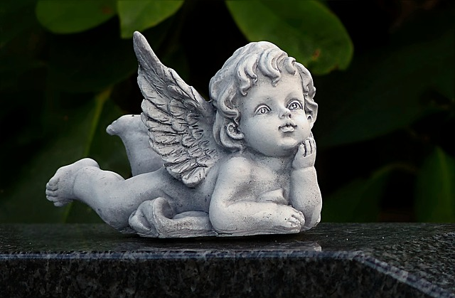 Angel, Figure, Lying, Deco, Cemetery