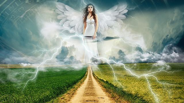 Nature, Sky, Angel, Heaven, Landscape