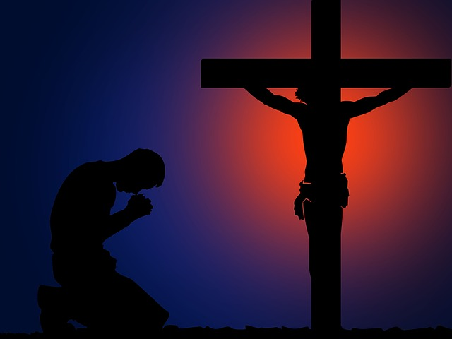 Pray, Cross, Angel, Faith, Prayer, Religion
