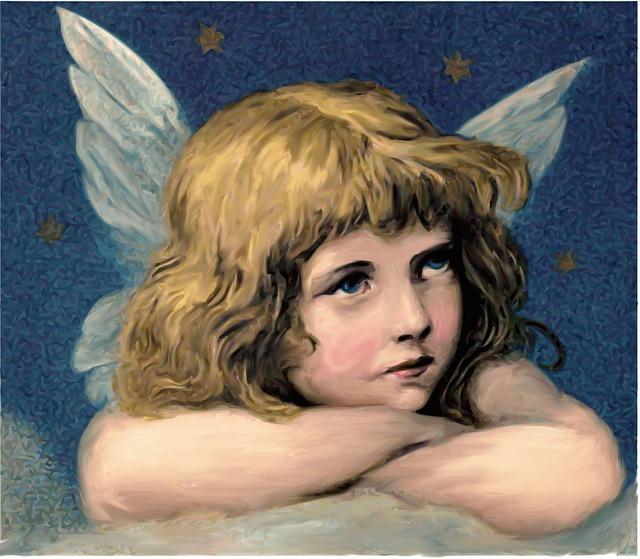 Angel, Christmas, Vintage, Religion, Christianity