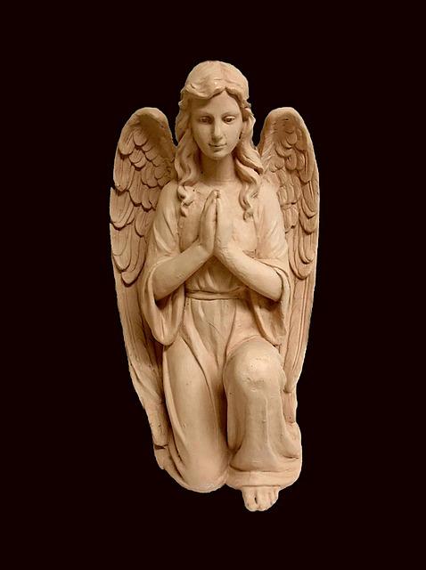 Angel, Sculpture, Religion, Guardian, Faith, Heaven