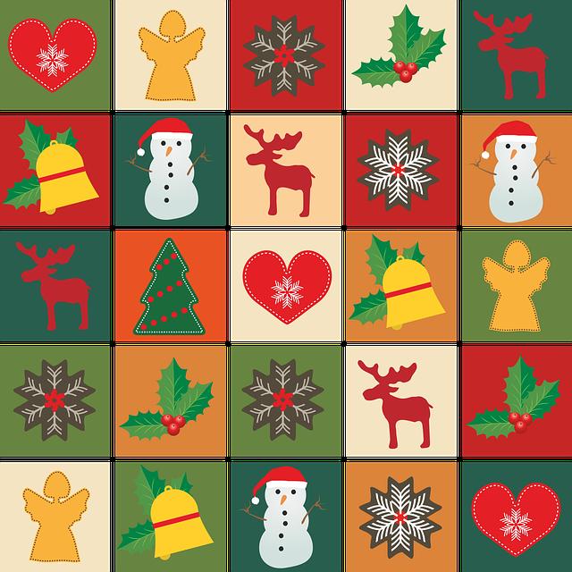 Christmas, Angel, Heart, Star, Snowflake, Holly