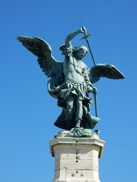 Angel, Castel Sant'angelo, Rome, Wing, Statue