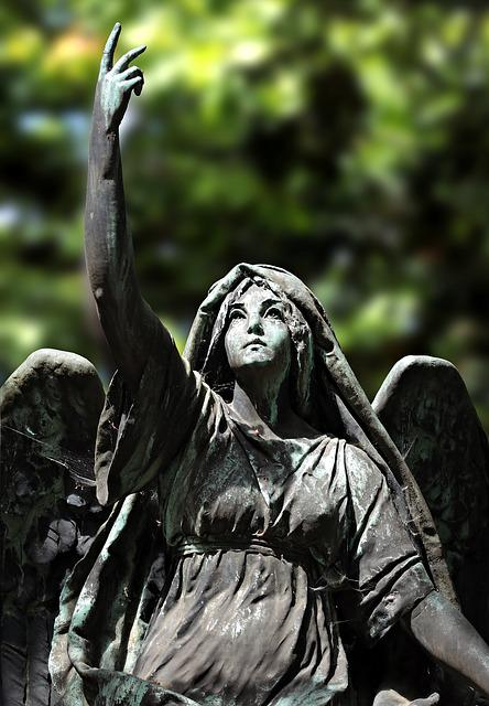 Angel, Statue, Figure, Cemetery, Stone, Sculpture