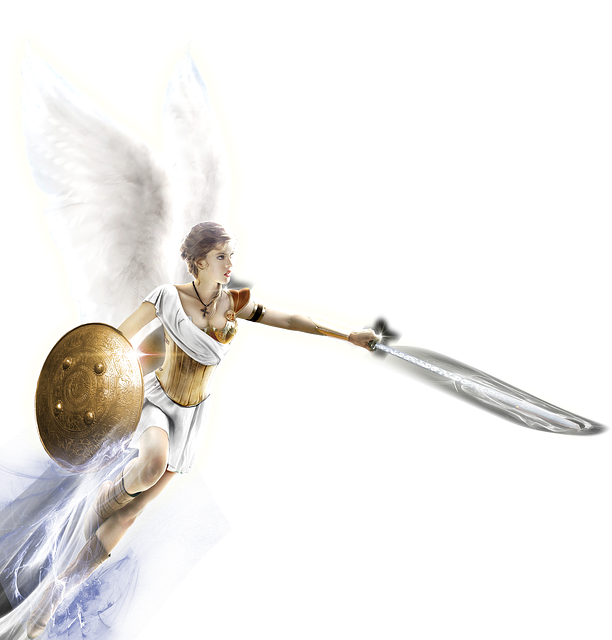 Angel, Sword, Coat Of Arms