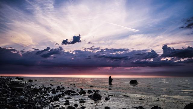 Angel, Baltic Sea, Panorama, Coast, Landscape, Water