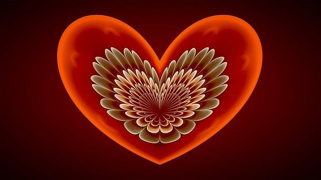 Fractal, Heart, Red, Love, Angel Wings, Fractal Art