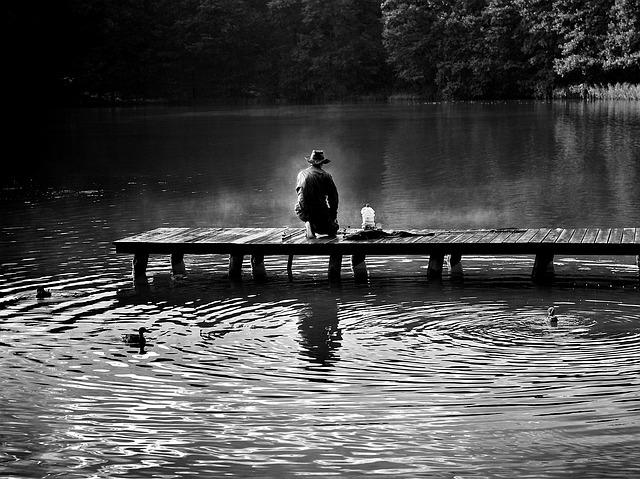 Angler, Bridge, Fishing, Hunting, Fish, Man, Poland