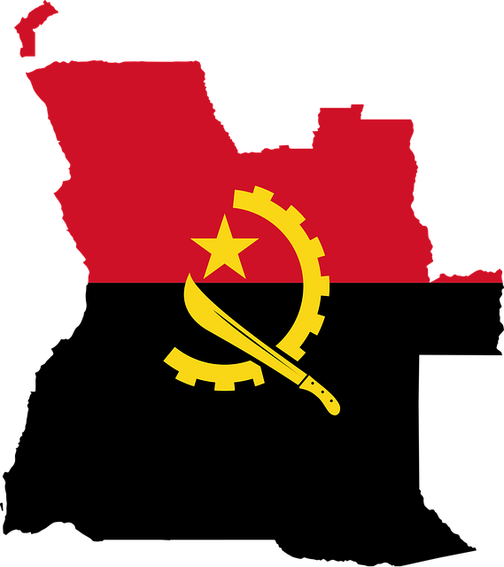 Angola, Flag, Map, Geography, Outline, Africa, Country