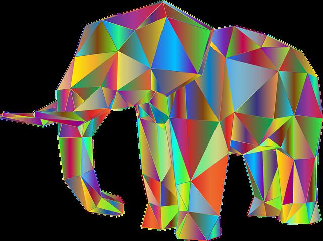 Elephant, 3d, Abstract, Africa, Animal, Art, Asia