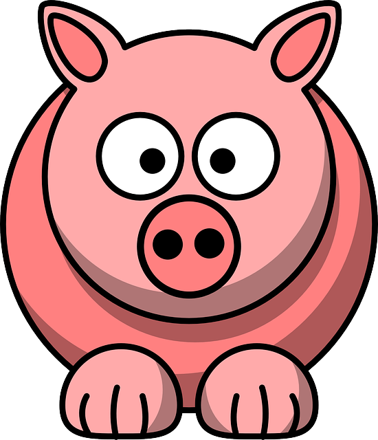 Animal, Pig, Pink, Cute, Face, Funny, Mammal, Head