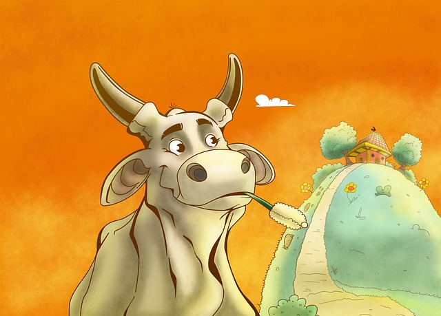 Cow, Field, Green, Veal, Animal, Cattle, Roça, Farm