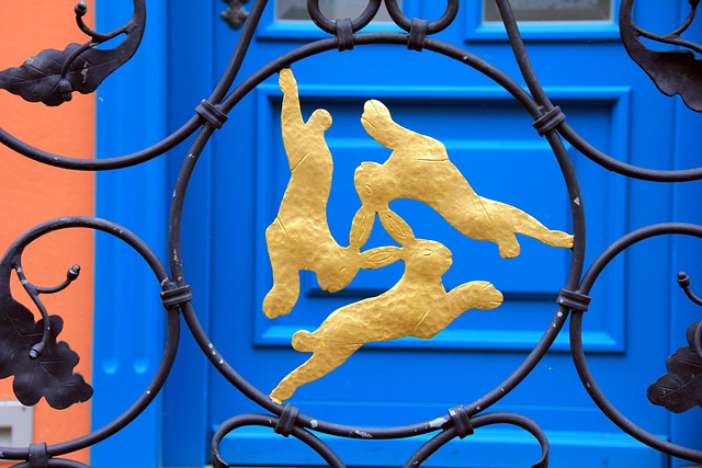 Animal, Hare, Hare Window, Gold