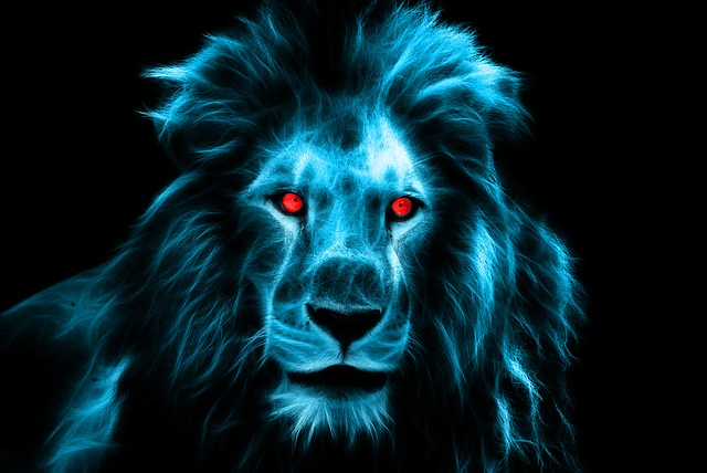 Lion, King, Africa, Animal, Fractalius