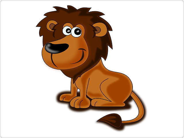 Lion, Animal, Africa, Safari, Cat, Cartoon, Cute, Smile