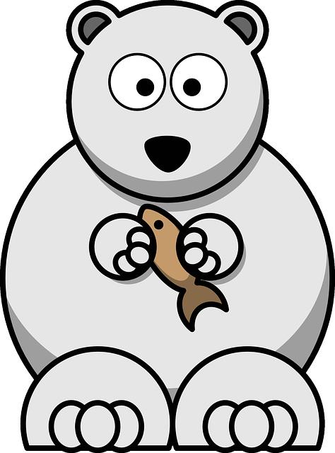 Bear, Polar Bear, Arctic, Fish, Mammal, Polar, Animal
