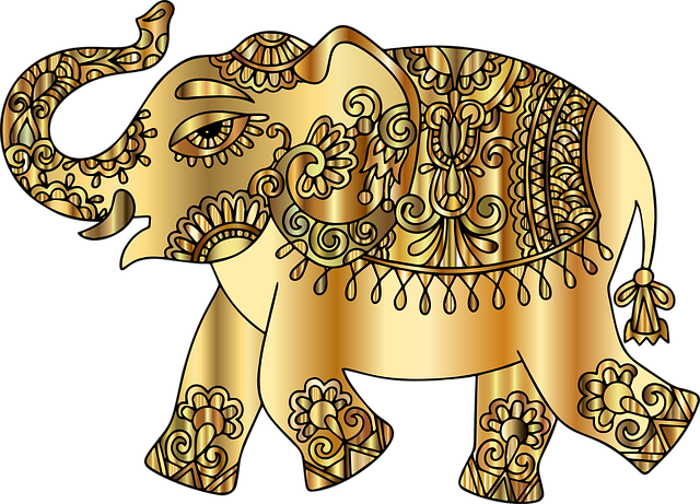 Elephant, Pachyderm, Animal, Decorative, Ornamental