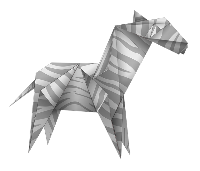 Origami, Zebra, Black And White, Paper, Art, Animal